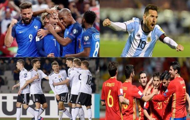 Les qualifiés pour la Coupe du Monde
